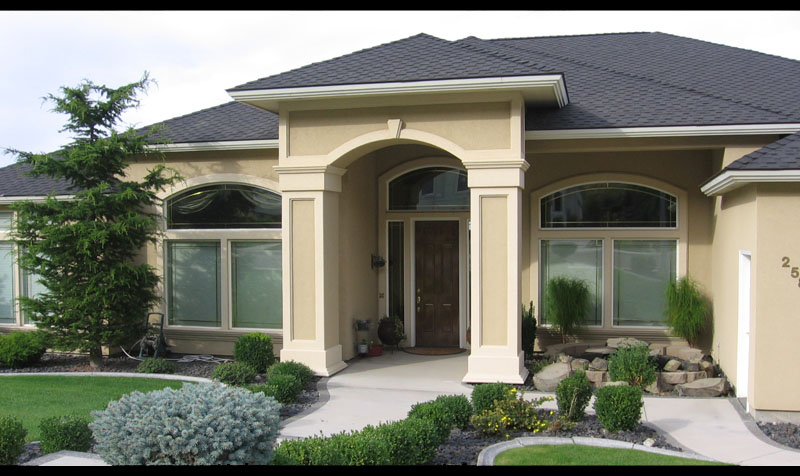 stucco home designs home and landscaping design