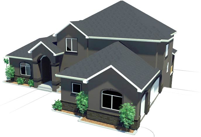 mcleod home design - 3d-revit-house-plan-design-white