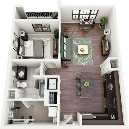 mcleod-home-designs- 3d floor layout